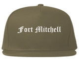 Fort Mitchell Kentucky KY Old English Mens Snapback Hat Grey