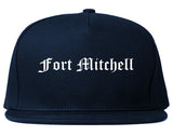Fort Mitchell Kentucky KY Old English Mens Snapback Hat Navy Blue