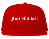 Fort Mitchell Kentucky KY Old English Mens Snapback Hat Red