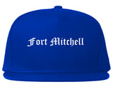 Fort Mitchell Kentucky KY Old English Mens Snapback Hat Royal Blue