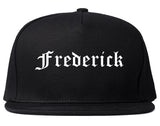 Frederick Colorado CO Old English Mens Snapback Hat Black