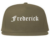 Frederick Colorado CO Old English Mens Snapback Hat Grey