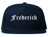 Frederick Colorado CO Old English Mens Snapback Hat Navy Blue