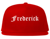 Frederick Colorado CO Old English Mens Snapback Hat Red