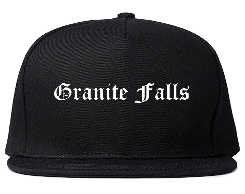 Granite Falls North Carolina NC Old English Mens Snapback Hat Black