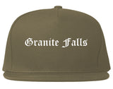 Granite Falls North Carolina NC Old English Mens Snapback Hat Grey