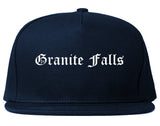 Granite Falls North Carolina NC Old English Mens Snapback Hat Navy Blue