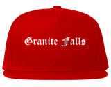 Granite Falls North Carolina NC Old English Mens Snapback Hat Red