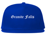 Granite Falls North Carolina NC Old English Mens Snapback Hat Royal Blue