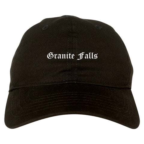 Granite Falls North Carolina NC Old English Mens Dad Hat Baseball Cap Black