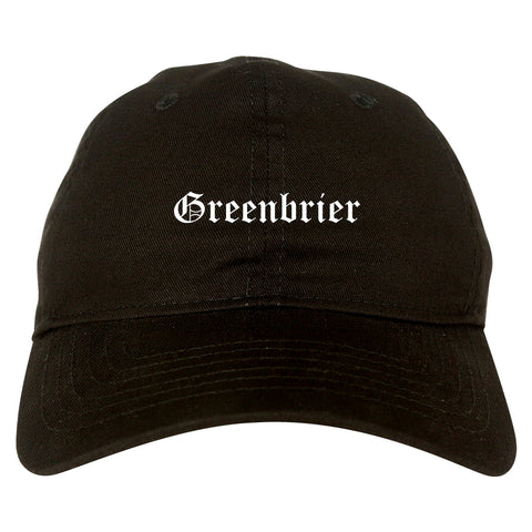 Greenbrier Tennessee TN Old English Mens Dad Hat Baseball Cap Black