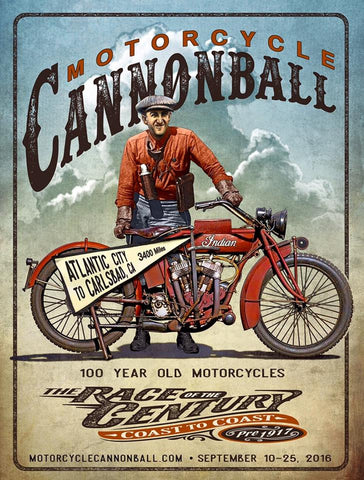 Official Merchandise for the 2016 Motorcycle Cannonball