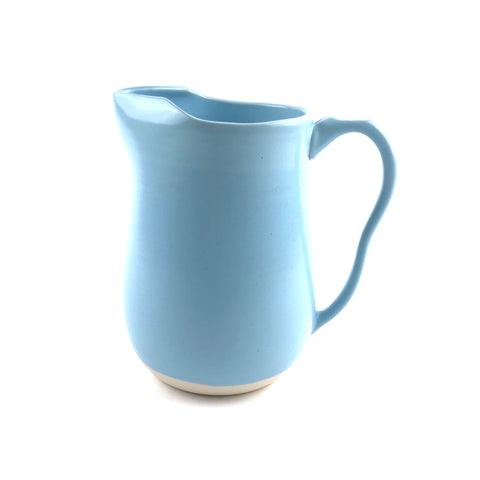 Blue Pitcher in White Clay