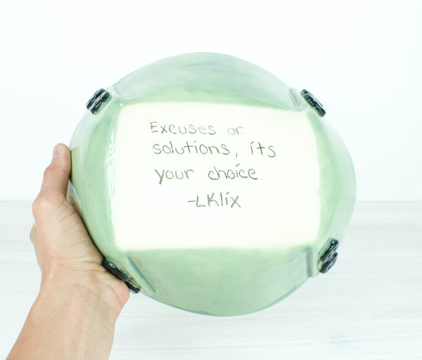 Button Dish - Excuses or Solutions...