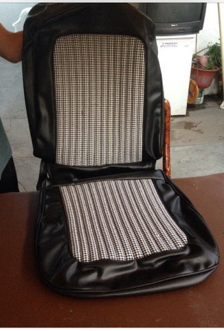 Black and White Houndstooth Seat Covers