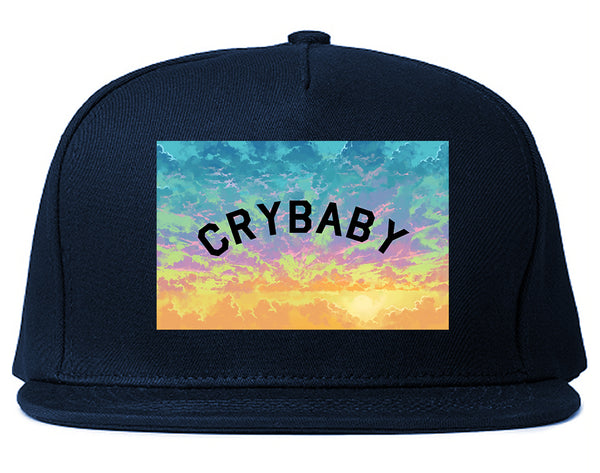 Crybaby Tie Dye Box Blue Snapback Hat