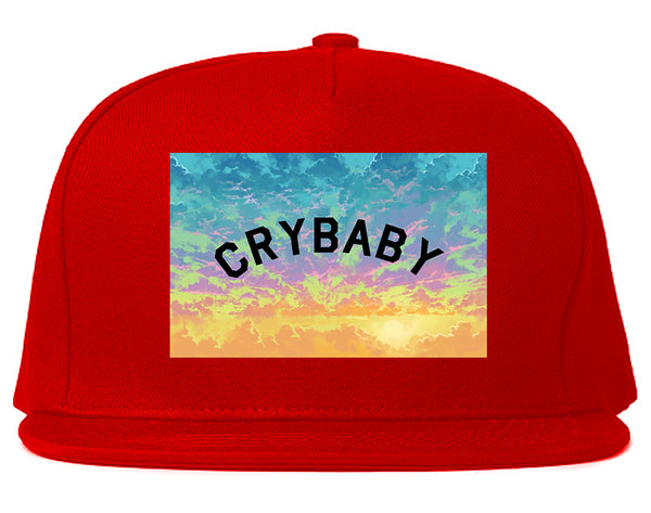 Crybaby Tie Dye Box Red Snapback Hat