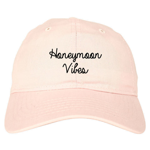 Honeymoon Vibes Bride pink dad hat