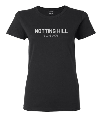 Notting Hill London Womens Graphic T-Shirt Black