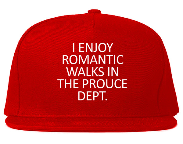 Romantic Produce Dept Food Red Snapback Hat