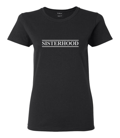 Sisterhood Black Womens T-Shirt