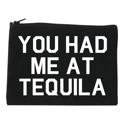 You Had Me At Tequila Black Makeup Bag
