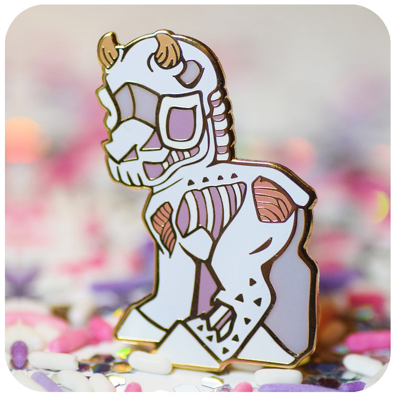 "Grim ""Knight"" Enamel Pin! Limited run."