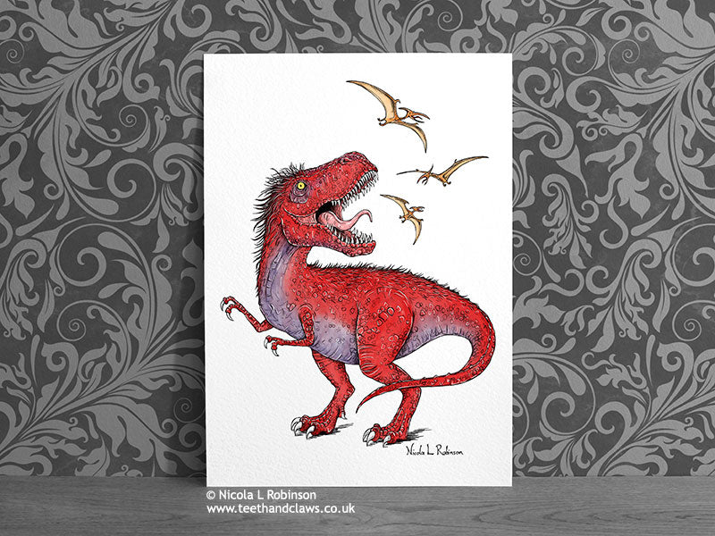 Dinosaur Art Prints © Nicola L Robinson | Teeth and Claws www.teethandclaws.co.uk