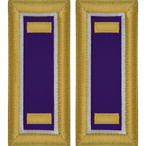 O-1 2nd Lieutenant Army Dress Blue Shoulder Board Rank (Male Size) - CIVIL AFFAIRS