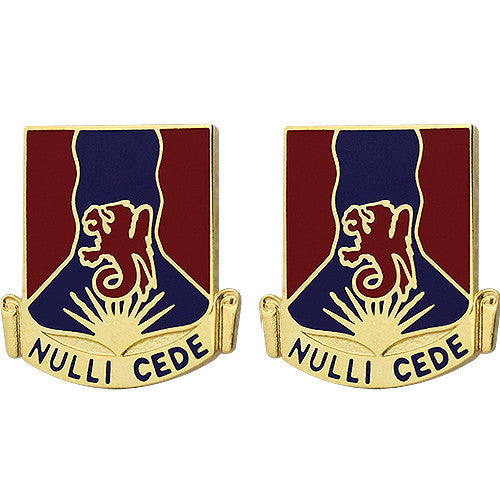 249th Regiment Unit Crest (Nulli Cede)