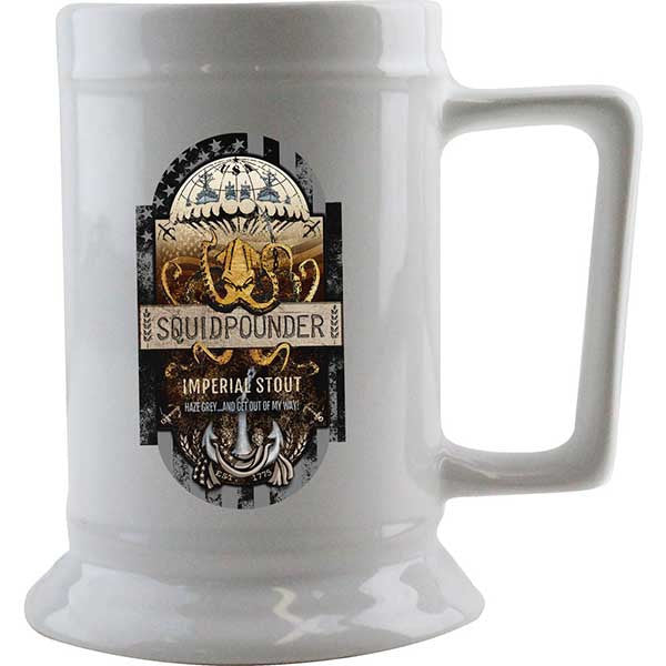 Navy Squidpounder Stout Beer Stein