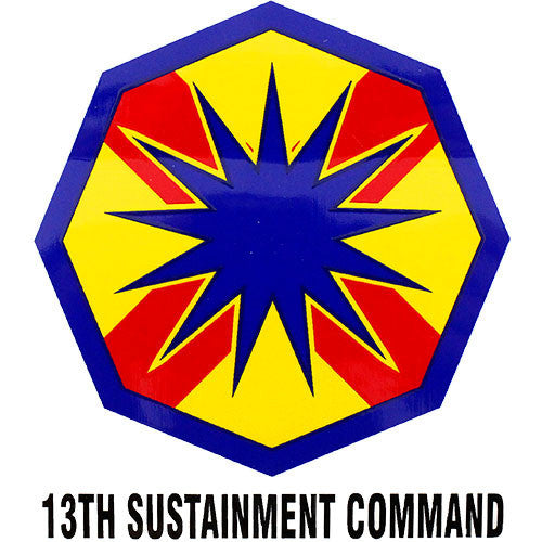 13th Sustainment Command Clear Decal