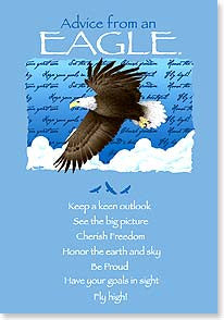 Advice from an Eagle Greeting Card - Birthday