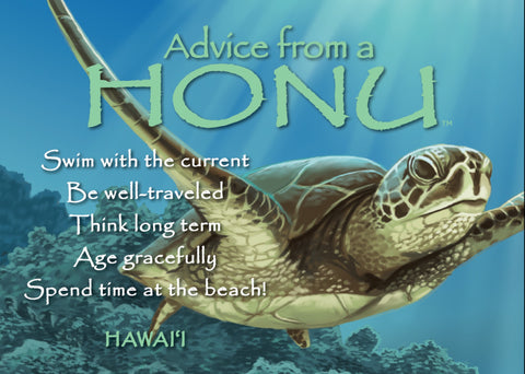 Advice from a Honu- Hawai'i- Jumbo Magnet