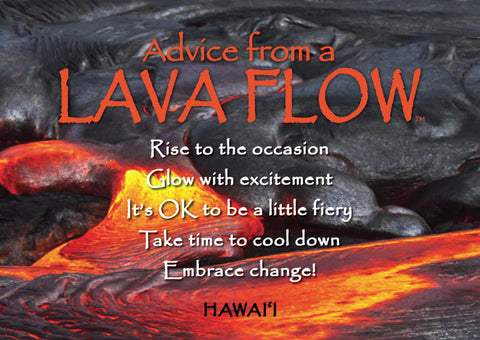 Advice from a Lava Flow Jumbo Magnet