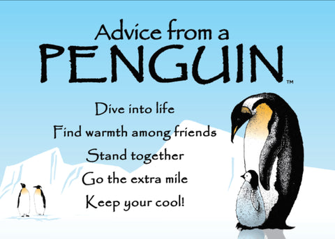 Advice from a Penguin Jumbo Magnet