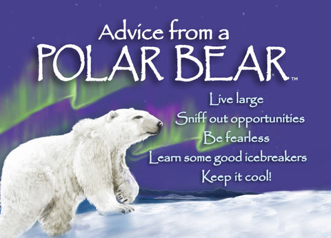 Advice from a Polar Bear Jumbo Magnet