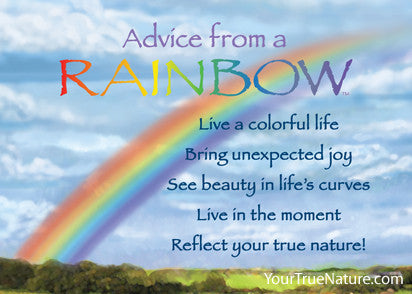 Advice from a Rainbow Jumbo Magnet