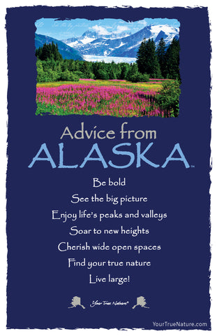 Advice from Alaska Frameable Art Card