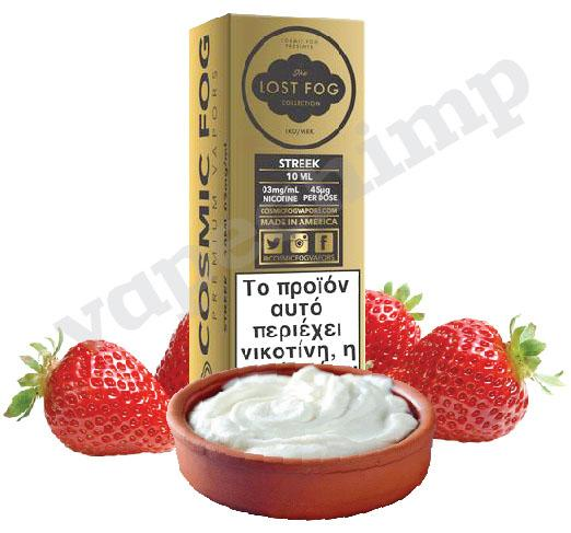 STREEK (Lost Fog) Gaviota Strawberries with Greek Yogurt  60ml (6 * 10ml TPD Bottles) :- VapeChimp - GREECE & CYPRUS E-liquid Wholesale