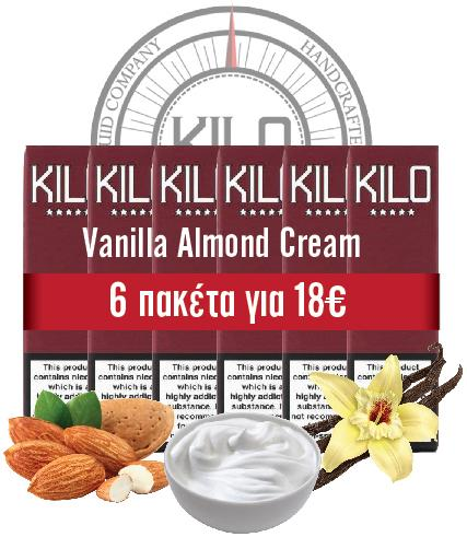 VANILLA ALMOND (Kilo Moo) Vanilla, Almond & Milk TPD - 60ml (6 * 10ml TPD Bottles) :- VapeChimp - GREECE & CYPRUS E-liquid Wholesale
