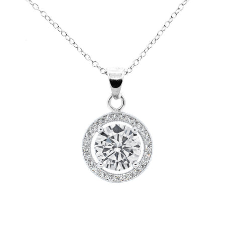 "Blake ""True"" 18k White Gold Plated Pendant Necklace"