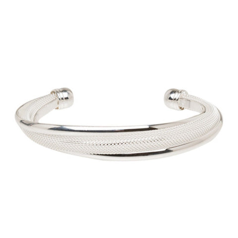 "REMOVED - Catherine ""Pure"" Silver Bangle Bracelet - Cate & Chloe  - 1"