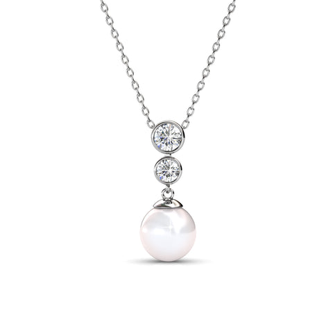Cate & Chloe Genevieve Sweet Pearl Pendant Necklace