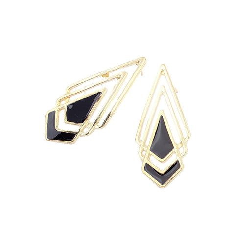 "Earrings,Jewelry - Nicolette ""Victory"" Gold Earrings"