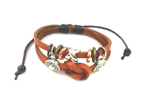 Jewelry, Bracelets, Leather - Penny Multi-toned Boho Bracelet