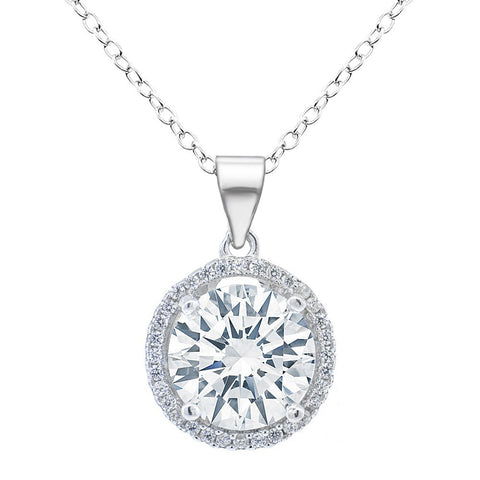 Jewelry, Necklace, Pendant - Sophia 18k White Gold Plated Pendant Necklace