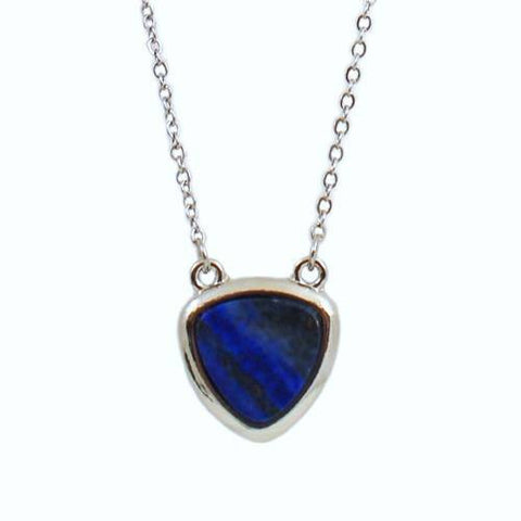"Jewelry, Necklace, Pendant - Summer ""Peace"" Natural Stone Necklace In Midnight Blue"