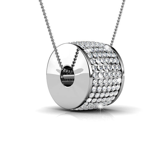 "Necklaces,Jewelry,Swarovski - Anabelle ""Alluring"" 18k White Gold Plated Swarovski Pendant Necklace"