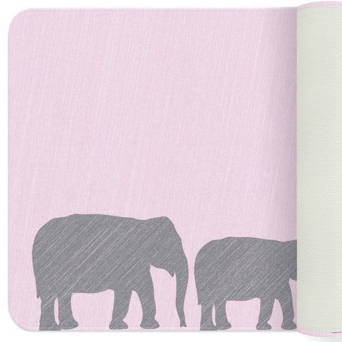 Elephant Nursery Rug, Elephant Baby Shower, Pink Elephant Nursery, Playroom Decor